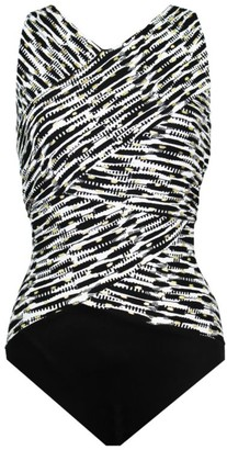 Miraclesuit Pyrite Brio Layered Print One-Piece Swimsuit