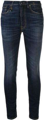 R 13 Allison mid-rise skinny jeans