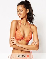 Asos FULLER BUST Hounds Tooth Hidden Underwire Bikini Top DD-G