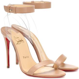 Christian Louboutin Jonatina 100 leather sandals