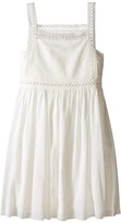 Chloe Kids Cotton Crepe Couture Dress Embroidery Under Cover (Big Kids)