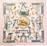 Hermes Copeaux By Caty Latham Silk Scarf