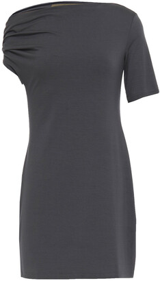 Enza Costa Asymmetric Stretch-jersey Mini Dress