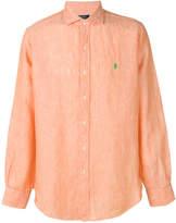 Polo Ralph Lauren logo curved hem shirt