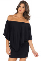 Luli Fama Cosita Buena Cover Ups Party Dress in Black (L177981)