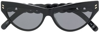 Stella McCartney Chain Detailed Cat Eye Sunglasses
