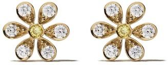 Sophie Bille Brahe 18kt yellow gold Maguerite diamond earrings