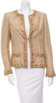 Oscar de la Renta Embellished Tweed Jacket