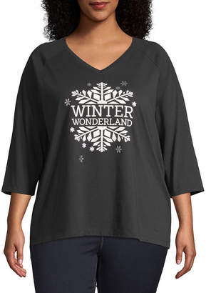 ST. JOHN'S BAY City Streets Holiday Graphic Tees - Plus