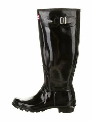 Hunter Rubber Rain Boots Black