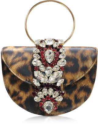 Gedebe Mini Brigitte Animal Printed Leather Clutch