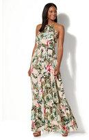 New York & Co. Tiered Halter Maxi Dress - Tropical Print