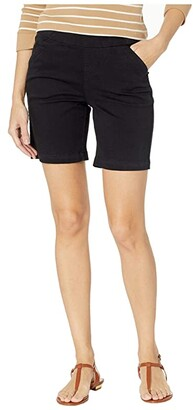 Jag Jeans Petite 7 Petite Gracie Pull-On Shorts in Twill (Black) Women's Shorts