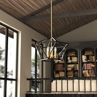 Theory Hinkley Lighting 6 - Light Candle Style Geometric Chandelier Hinkley Lighting