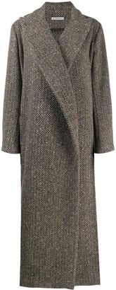 Dusan Herringbone Double-Breasted Coat