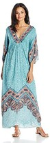 Thumbnail for your product : Angie Women's Blue Printed Bell Sleeve Long Dress Large
