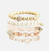 Avenue Blush Stretch Bracelet Set