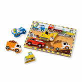 Melissa & Doug Chunky Wooden Construction Puzzle