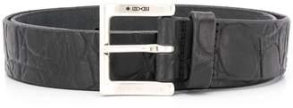 Orciani wrinkled-effect belt