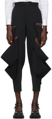 Comme des Garcons Black Wool Multi Slit Trousers