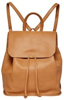 Urban Originals Midnight Vegan Leather Flap Backpack - Brown