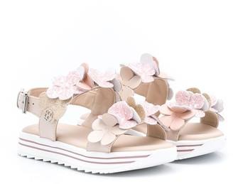 Florens Open Toe Floral Applique Sandals