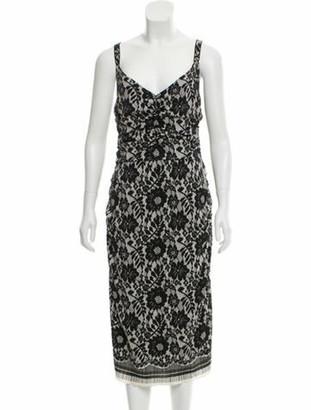 Dolce & Gabbana Silk Midi Dress Black
