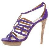 Hermes Suede Cutout Sandals
