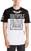 Southpole Men's Short Sleeve Graphic Tee Logo and Top Bottom Color Block