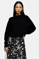 Topshop Black Balloon Sleeve Sweater