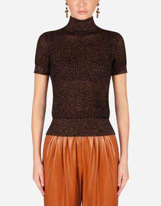Dolce & Gabbana Wool And Lurex Turtle-Neck Sweater