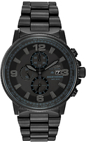 Citizen Ca0295-58e Nighthawk Chronograph Stainless Steel Bracelet Strap Watch, Black