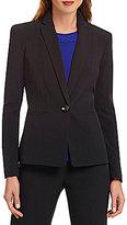 Kasper Petite One-Button Crepe Jacket