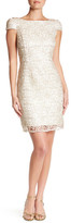 Nicole Miller Embroidered Lace Cap Sleeve Dress