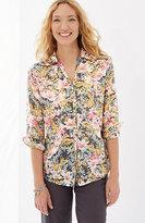 J. Jill Cotton & Silk Floral Shirt