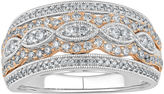 MODERN BRIDE 3/4 CT. T.W. Diamond Two-Tone 10K Gold Milgrain Ring