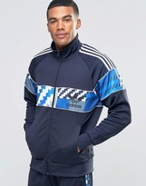 adidas Camo Track Jacket In Blue AY8283