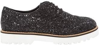 Hogan Black Glitter Flats