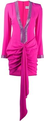 Giuseppe di Morabito Crystal Embellished Ruche Dress