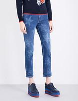 Stella McCartney Star-print boyfriend-fit mid-rise jeans