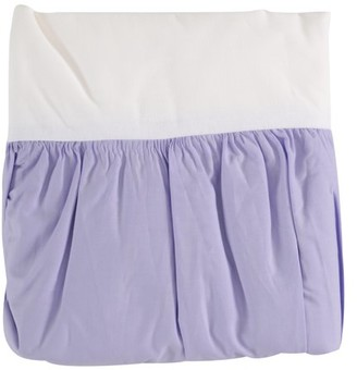 Tl Care Inc TL Care 100% Cotton Percale Purple Crib Bed Skirt Pack