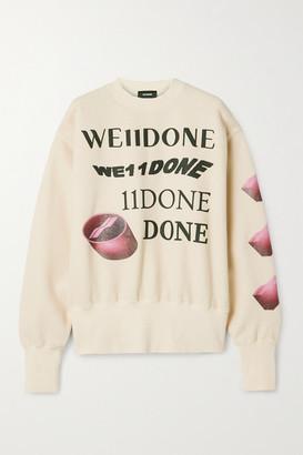 we11done Oversized Printed Appliqued Cotton-blend Jersey Sweatshirt - Cream