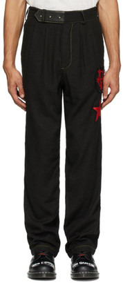 Worstok Black Linen Lounge Trousers
