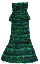 Alice + Olivia Strapless Tiered Gown