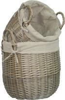 Houseology Antique Wash Lined Linen Bin Set Of 2