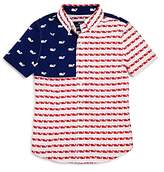 Vineyard Vines Boys' Usa Whale Flag Shirt - Little Kid