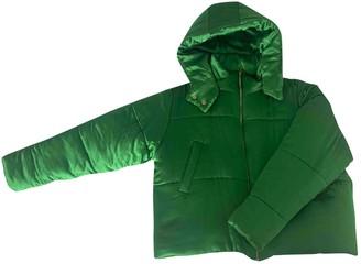 Olivia von Halle Green Silk Coat for Women
