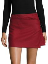 Helmut Lang Houndstooth Pleated Mini Skirt