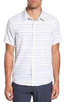 Travis Mathew Men's Long Board Stripe Sport Shirt