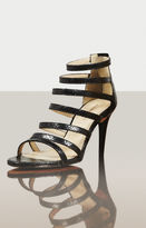 BCBGMAXAZRIA Polina High-Heel Python Print Strappy Sandal